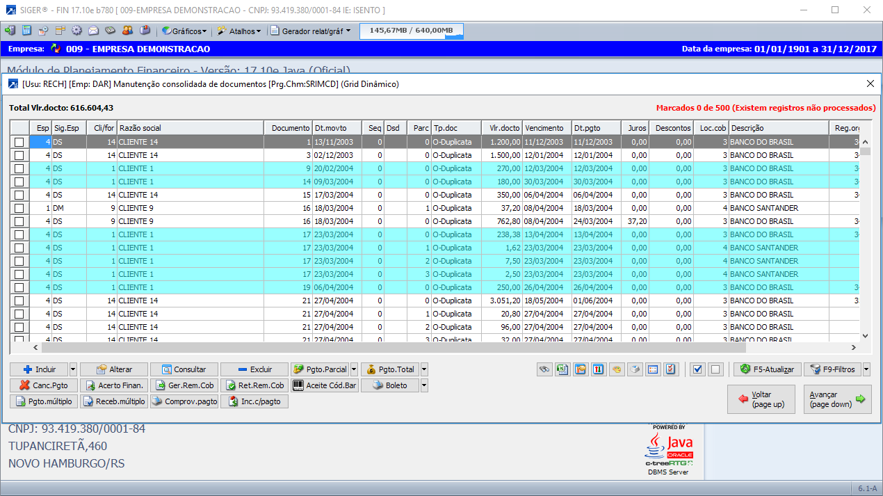 Controle Financeiro | ERP SIGER®